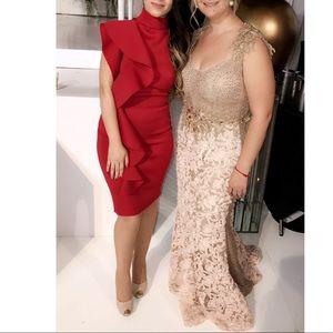 Pink/Gold Alberto Makali Dress